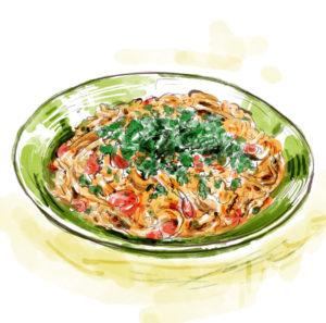 Rachael Ray's Pici all'Aglione pasta